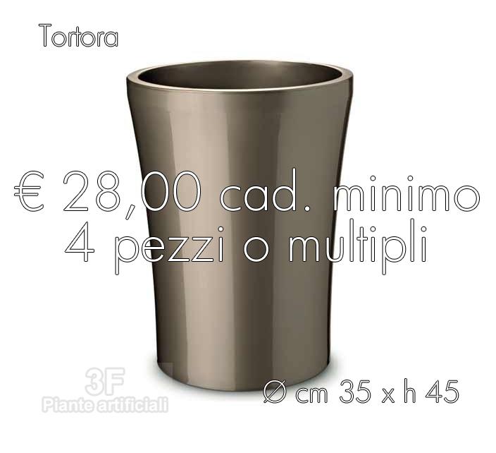 Erba vaso easy 35 x h 45 tortora 4 pezzi cm 35 x for Vasi erba