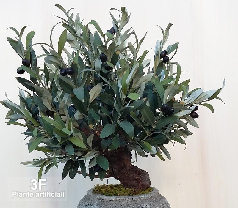 Mini ulivo altezza cm 50 3f piante artificiali for Piante artificiali economiche
