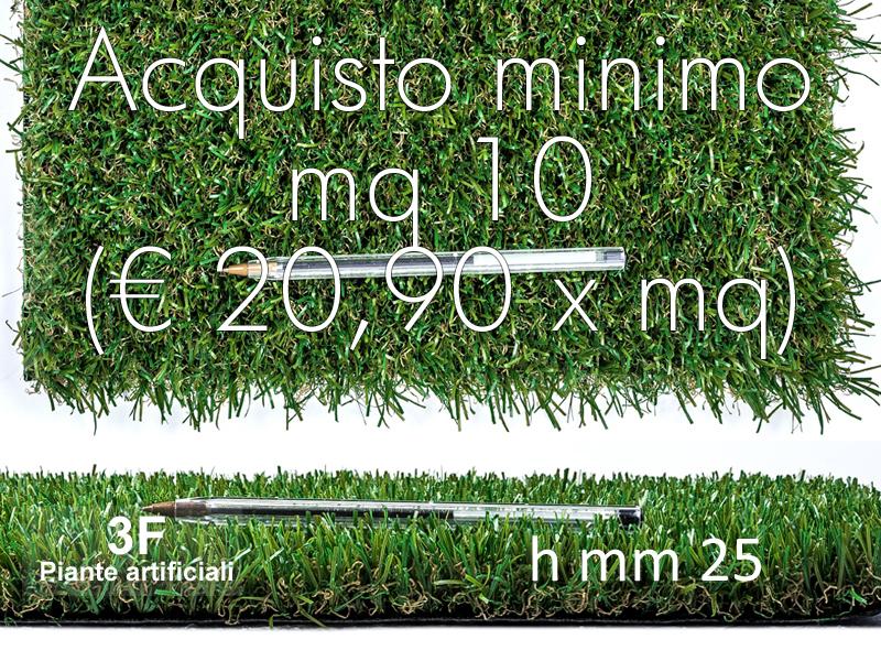 Prato sintetico mm 25 mq 20 90 costo al mq 20 90 for Acquisto piante