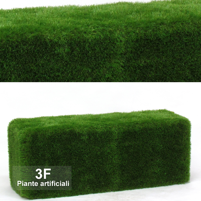Panca rivestita in erba sintetica misure cm 130 x 50 h - Erba sintetica da giardino ...