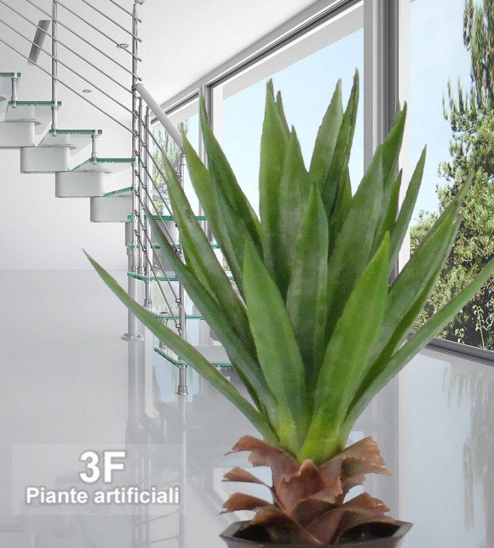 Yucca small cactus altezza cm 50 vaso cm 20 3f for Piante artificiali
